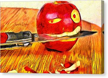 Apple Strikes Back Canvas Print by Leonardo Digenio