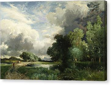 Approaching Storm Clouds Canvas Print by Thomas Moran