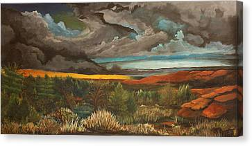 Approaching Storm Canvas Print by Shannon Rains