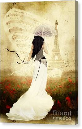 April In Paris Canvas Print by Shanina Conway