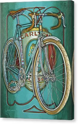 Aqua Carlton Fixed Canvas Print by Mark Howard Jones