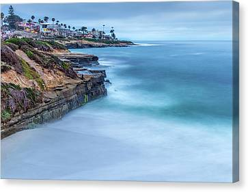 Aqua Canvas Print by Peter Tellone