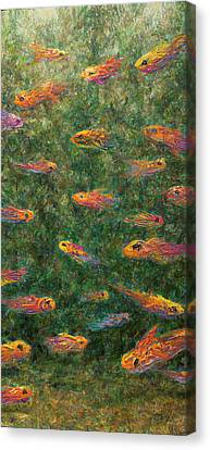 Aquarium Canvas Print by James W Johnson