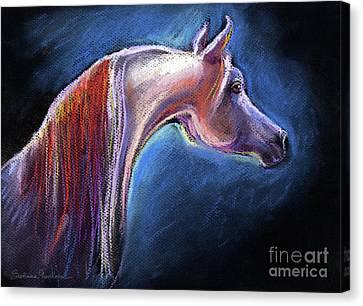 Arabian Horse Equine Painting Canvas Print by Svetlana Novikova