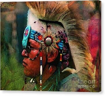 Arapaho Warrior Canvas Print by Terril Heilman