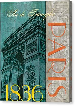 Arc De Triomphe Canvas Print by Debbie DeWitt