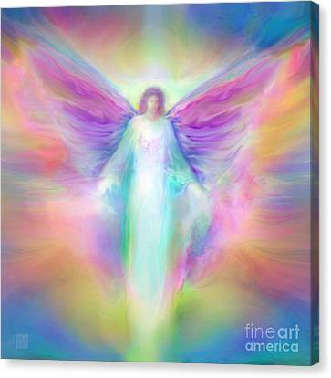 Archangel Raphael Healing Canvas Print by Glenyss Bourne