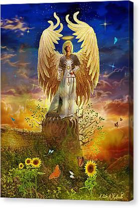Archangel Uriel Canvas Print by Steve Roberts