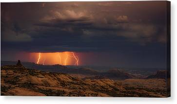 Arches Light Show Canvas Print by Darren White