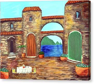 Arches Of Amalfi  Canvas Print by Larry Cirigliano