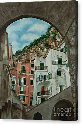 Arches Of Italy Canvas Print by Charlotte Blanchard