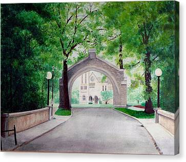 Arches Of Shadduck St Mary Canvas Print by Marcus Moller