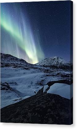 Arctic Blue Canvas Print by Tor-Ivar Naess