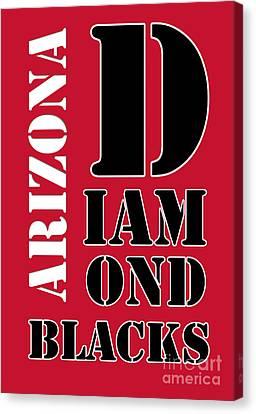 Arizona Diamondbacks Baseball Typography Red Canvas Print by Pablo Franchi