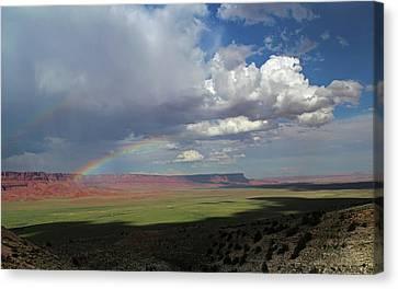 Arizona Double Rainbow Canvas Print by Jerry LoFaro