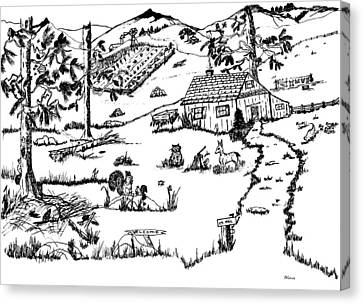 Arlenne's Idyllic Farm Canvas Print by Daniel Hagerman