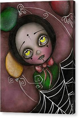 Arlequin Clown Girl Canvas Print by  Abril Andrade Griffith