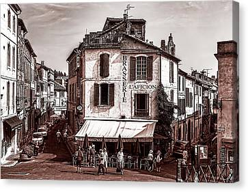 Arles, France, In Sepia Canvas Print by Kay Brewer