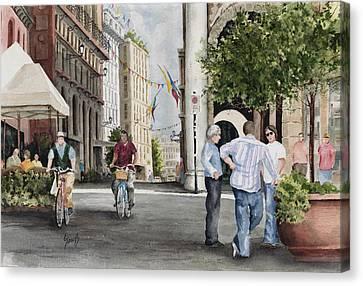 Arles Street Canvas Print by Sam Sidders