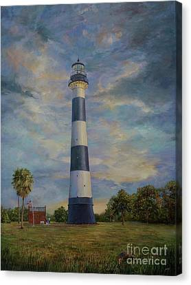Armadillo And Lighthouse Canvas Print by AnnaJo Vahle