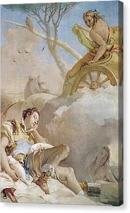 Armida Abducting The Sleeping Rinaldo Canvas Print by Giovanni Battista Tiepolo
