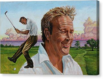 Arnold Palmer Canvas Print by John Lautermilch