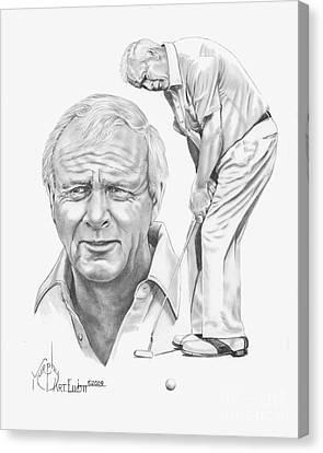 Arnold Palmer Canvas Print by Murphy Elliott