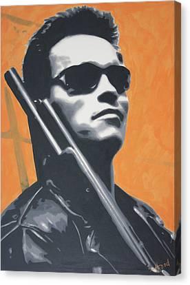 Arnold Schwarzenegger 2013 Canvas Print by Luis Ludzska
