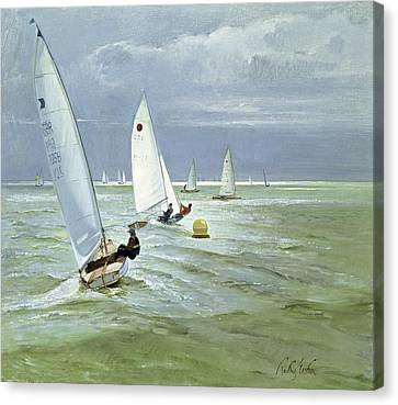 Around The Buoy Canvas Print by Timothy Easton
