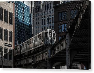 Around The Corner, Chicago Canvas Print by Reinier Snijders