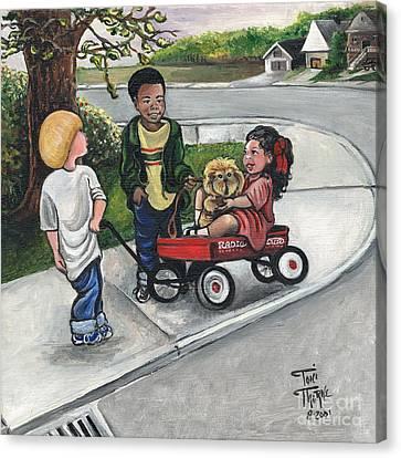 Around The Corner Canvas Print by Toni  Thorne
