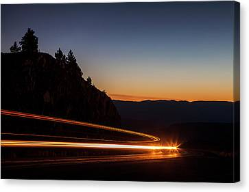 Around The Curve Canvas Print by Andrew Soundarajan