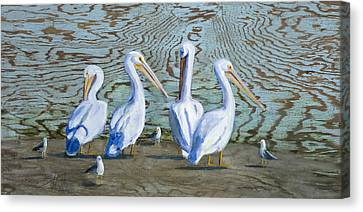 Around The Water Cooler Canvas Print by Billie Colson