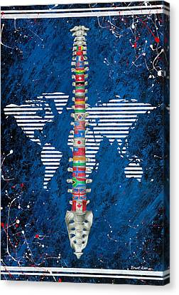 Around The World Canvas Print by Brent Buss