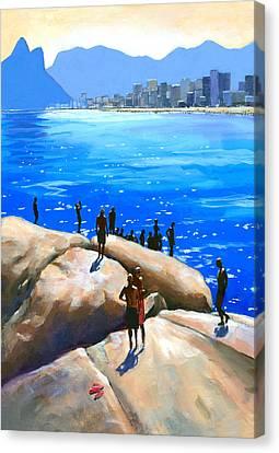 Arpoador Afternoon Canvas Print by Douglas Simonson