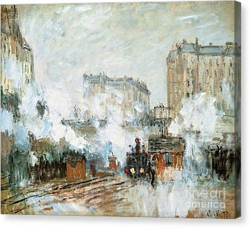 Arrival Of A Train Canvas Print by Claude Monet