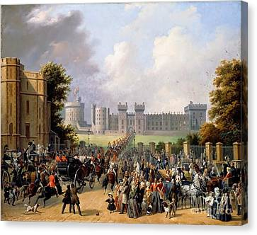 Arrival Of King Louis Canvas Print by MotionAge Designs