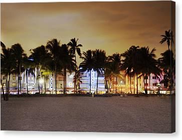 Art Deco District Miami South Beach Canvas Print by Ixefra