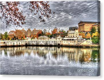 Art Museum Reflections Canvas Print by Mark Ayzenberg