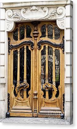 Art Nouveau Paris Door Canvas Print by Ivy Ho