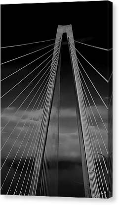 Arthur Ravenel Jr Bridge Canvas Print by DigiArt Diaries by Vicky B Fuller