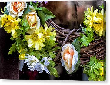 Artificial Flowers Canvas Print by Robert Ullmann