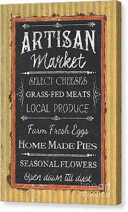 Artisan Market Sign Canvas Print by Debbie DeWitt