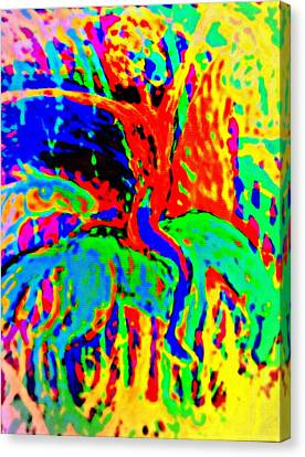The Artist Of The Burning Rainbow  Canvas Print by Hilde Widerberg