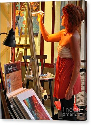 Artist At Work Canvas Print by Rose  Hill