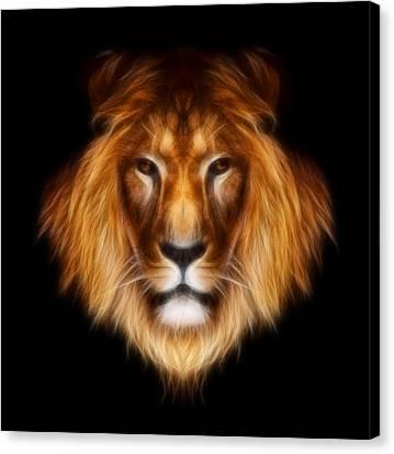 Artistic Lion Canvas Print by Aimelle