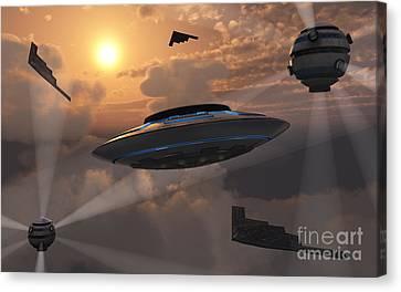 Artists Concept Of Alien Stealth Canvas Print by Mark Stevenson