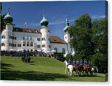 Canvas Print featuring the photograph Artstetten Castle In June by Travel Pics