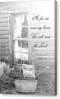 As For Me And My House Canvas Print by Judy Hall-Folde