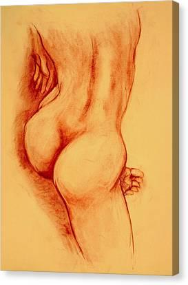 Asana Nude Canvas Print by Dan Earle